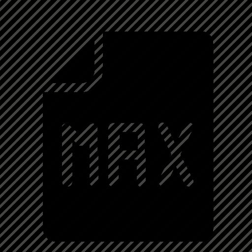file, format, max icon