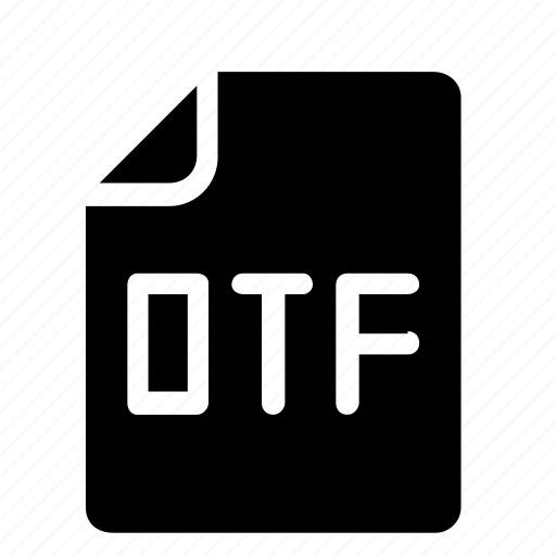 file, format, otf icon