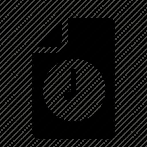 clock, file icon