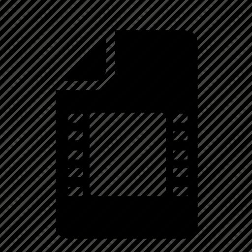 file, media, video icon