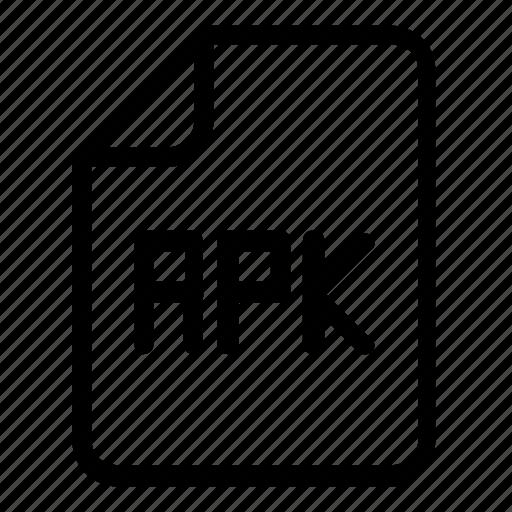 apk, file, format icon