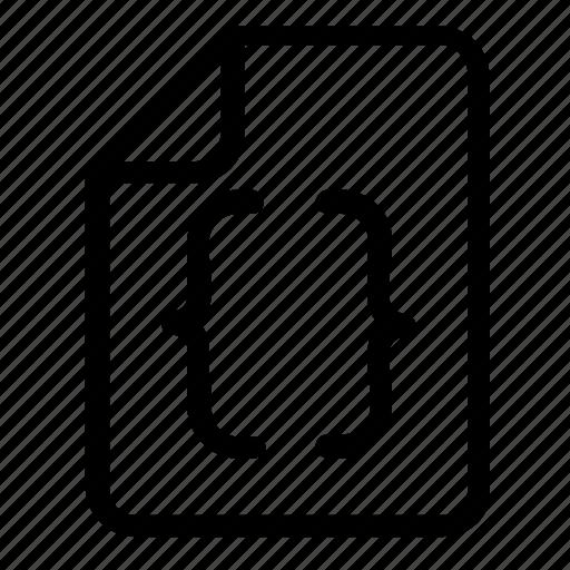brackets, coding, file icon