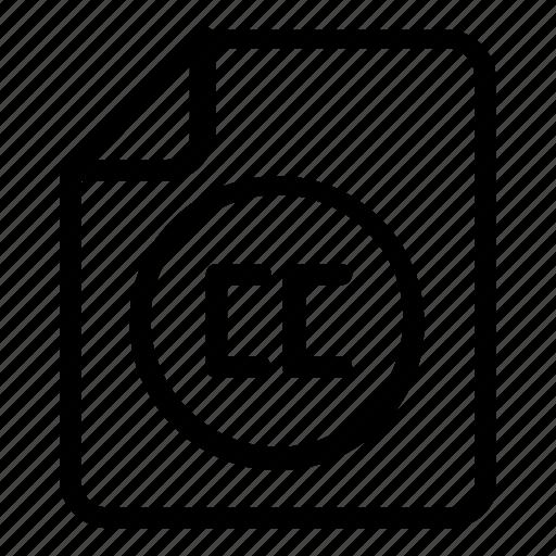 cc, file, format icon