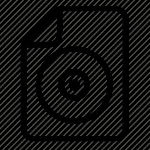 cd, file icon