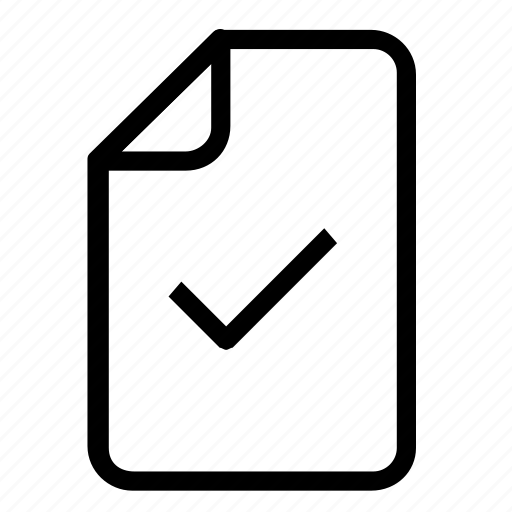 confirm, file icon