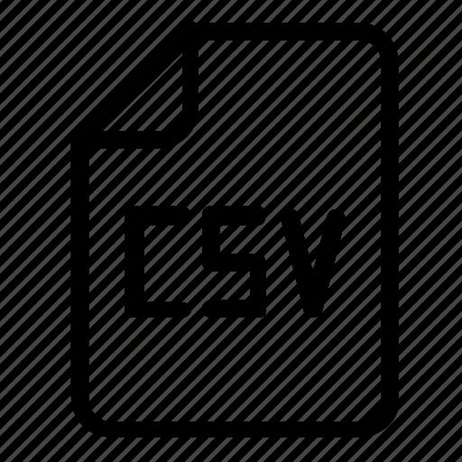 csv, file, format icon