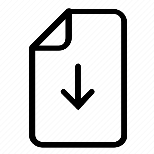 download, file, format icon