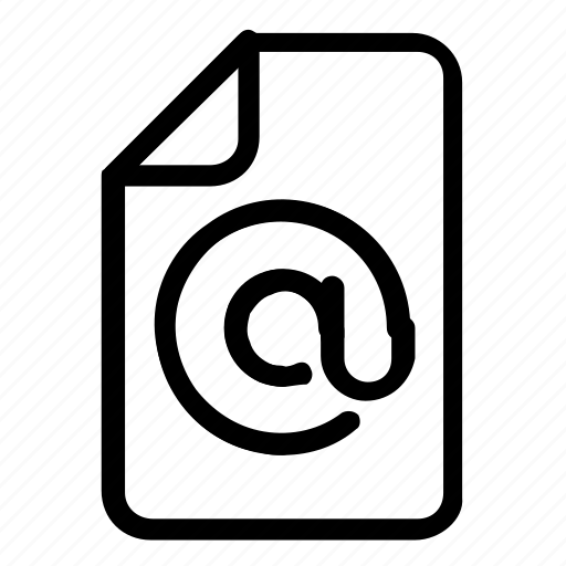 email, extension, file, format icon