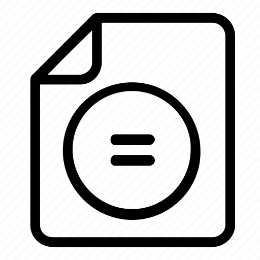equal, extension, file, format icon