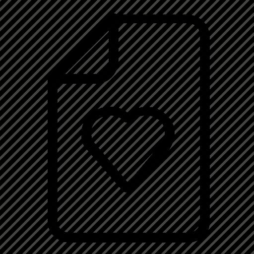 favorite, file, format icon