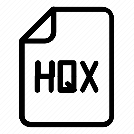 extension, file format, hqx icon