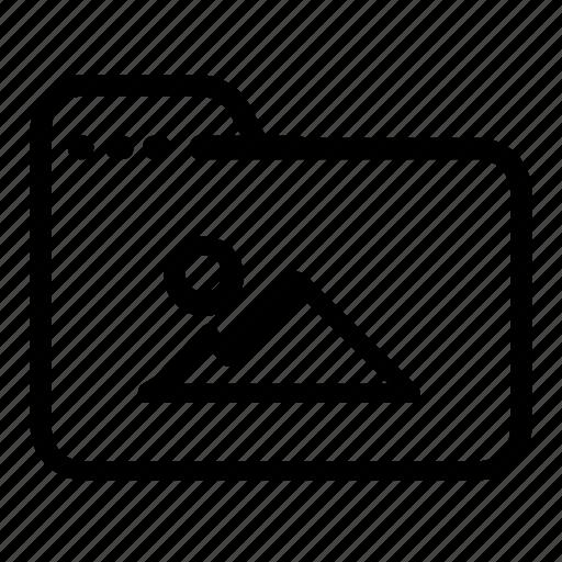 file, folder, image icon