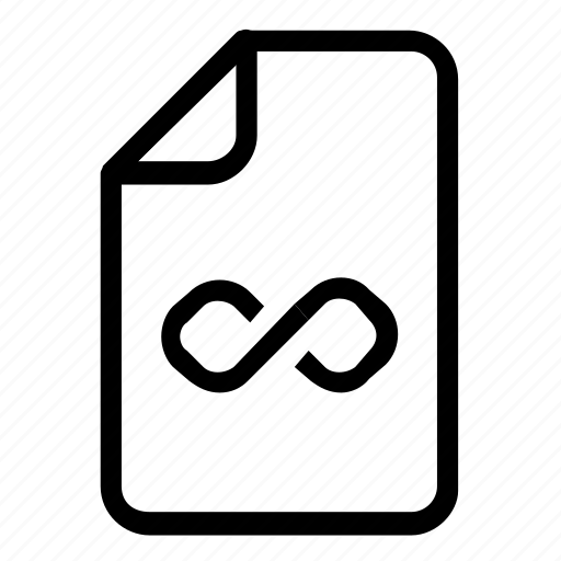 file, format, infinity icon
