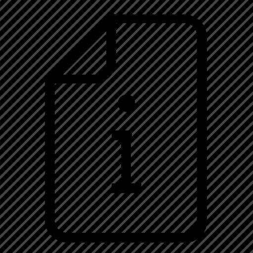 File, information icon - Download on Iconfinder