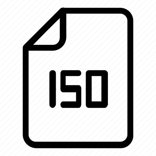 extension, file, format, iso icon