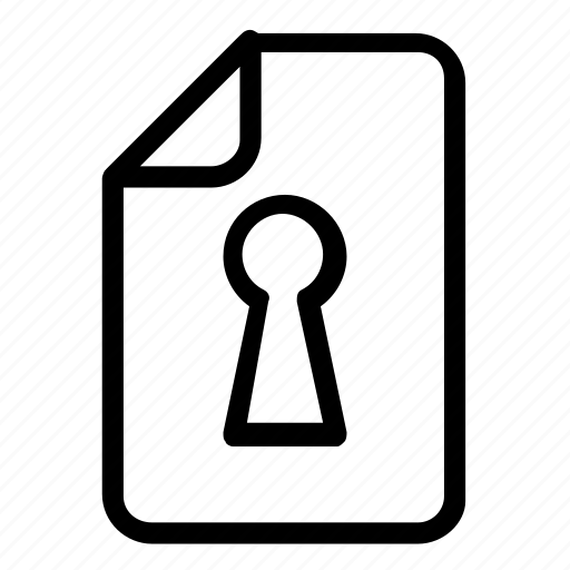 file, format, lock icon