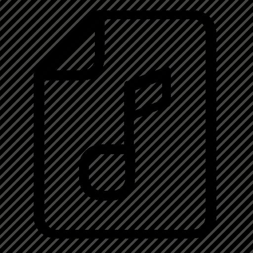 audio, file, format, music icon