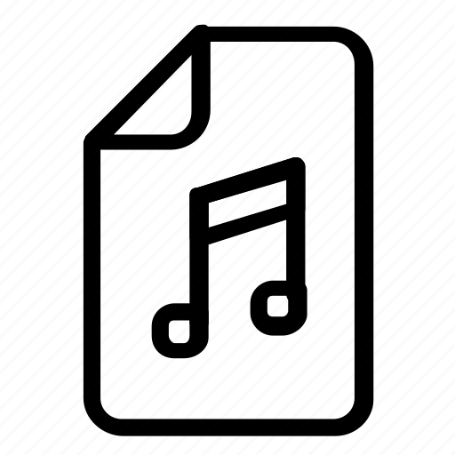 extension, file, format, music icon