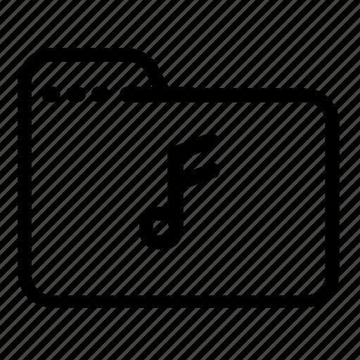 audio, file, folder, music icon