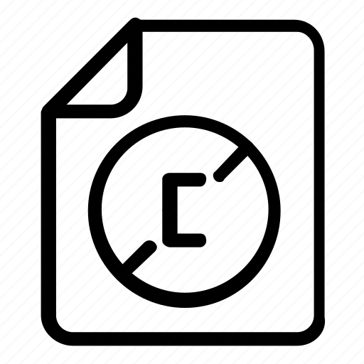 copyright, file, format icon