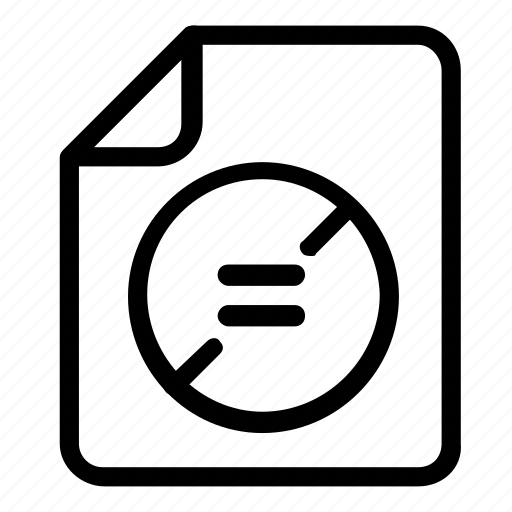 equal, file, format icon