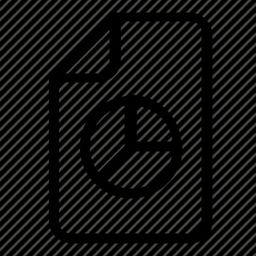 chart, file, pie icon