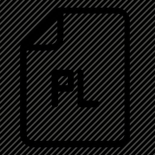 file, format, pl icon