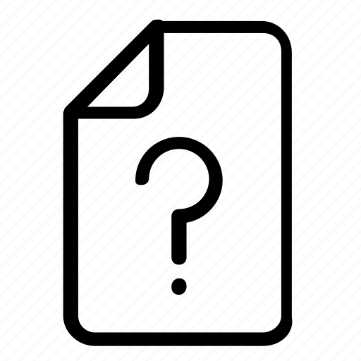 file, information, question icon