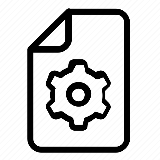 file, format, settings icon