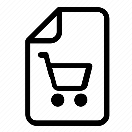 file, format, shopping icon