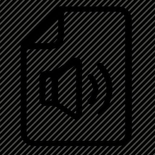 audio, file, format icon