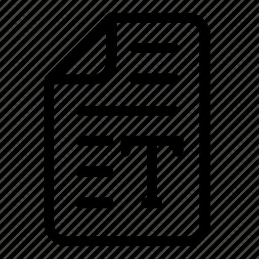 Text, file icon