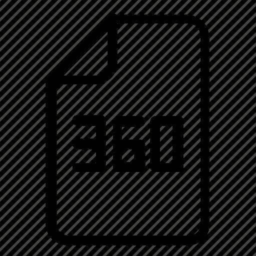 file, three hundred sixty icon