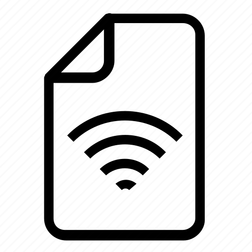 file, format, wifi icon