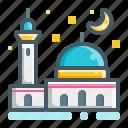 masjid, night, mosque, ramadan