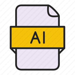 adobe, ai, file, illustrator icon