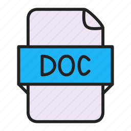 doc, file, word icon