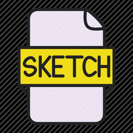 file, sketch icon