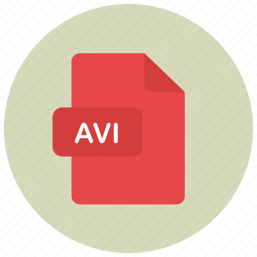 avi, extension, file, type icon