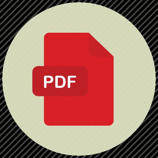 extension, file, pdf, type icon