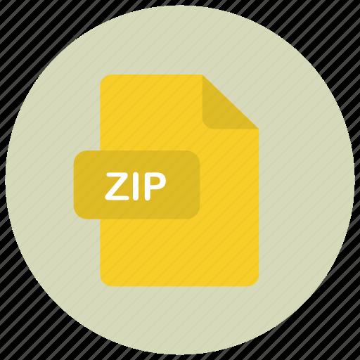 extension, file, type, zip icon