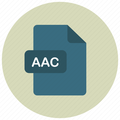 aac, extension, file, type icon