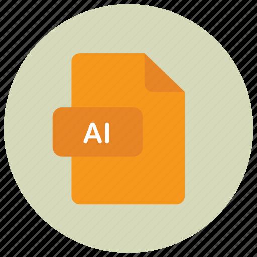 extension, file, illustrator, type icon
