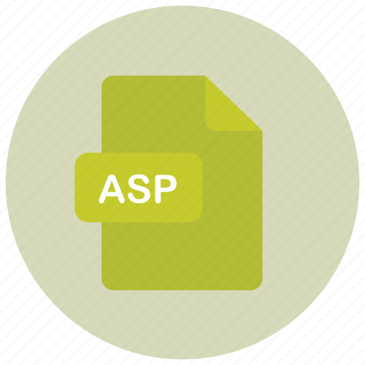 asp, extension, file, type icon