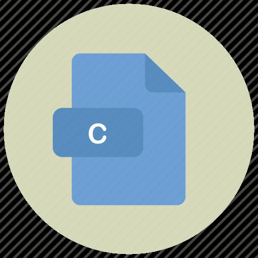 c, extension, file, type icon