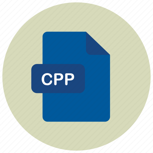 cpp, extension, file, type icon