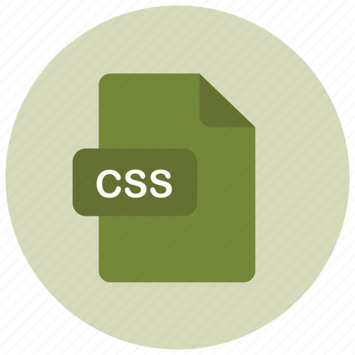 css, extension, file, type icon