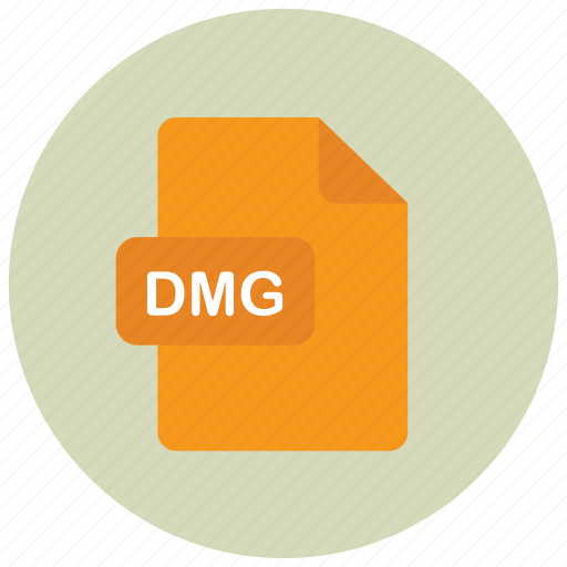 dmg, extension, file, type icon