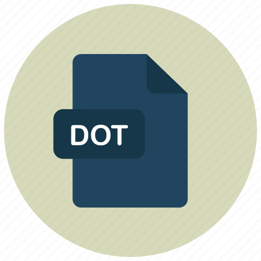 dot, extension, file, type icon
