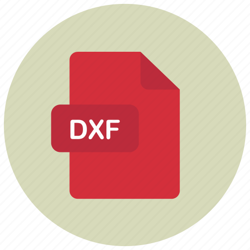 dxf, extension, file, type icon
